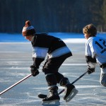 Underground Pond Hockey in Lake Tahoe