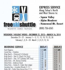 Free Ski Shuttle on the North Shore