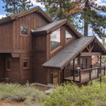 Side View of Rustic Lake Tahoe Cabin
