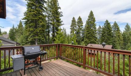 Balcony overlooking pines